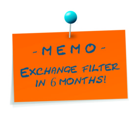 Please remember to exchange your filter every 6 months.