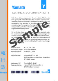 Certificate of Authenticity_Yamato Scale Original Spare Parts